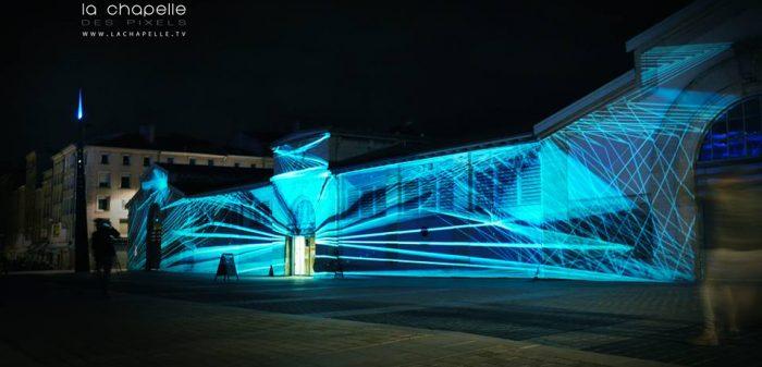 Projection sur façade / 1000 Caméras